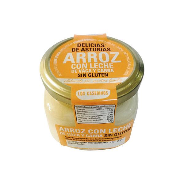 Arroz con leche de vaca y cabra Los Caserinos - Gorfolí Gourmet, tienda de productos asturianos