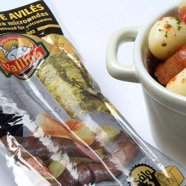 Longaniza de Avilés para microondas de Embutidos Vallina, comprar productos gourmet de Asturias en gorfoli.com