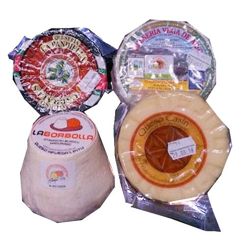 Lote de quesos asturianos DOP - Quesería la Pandiella Quesu Cabrales, Quesos la Borbolla Afuega'l Pitu, Queso Casín, Quesería Vega de Ario, Gorfolí Gourmet tienda online de productos de Asturias
