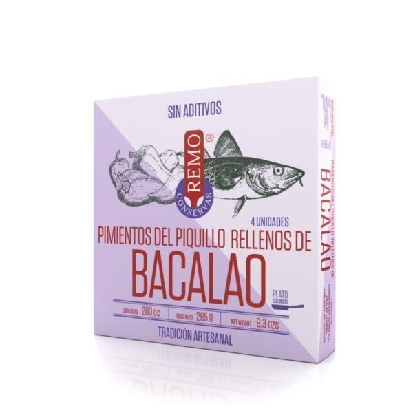 Pimientos del Piquillo rellenos de Bacalao de Conservas Remo, Gorfolí tienda online de productos gourmet de Asturias