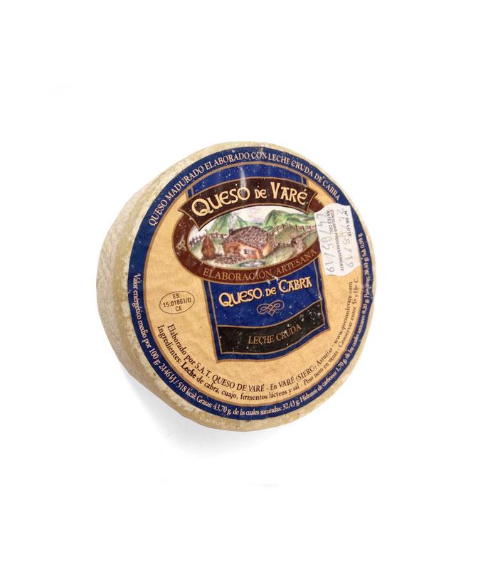 Queso de Varé de leche cruda de cabra, Quesos de Asturias, gorfoli.com tienda online