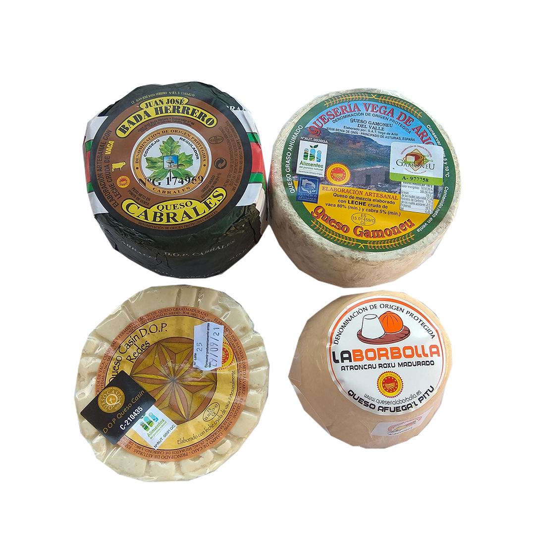 Lote quesos asturianos con DOP