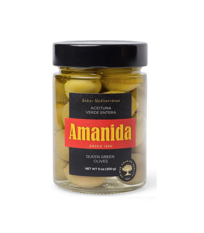Aceituna verde entera Amanida - Gorfolí tienda online de productos gourmet
