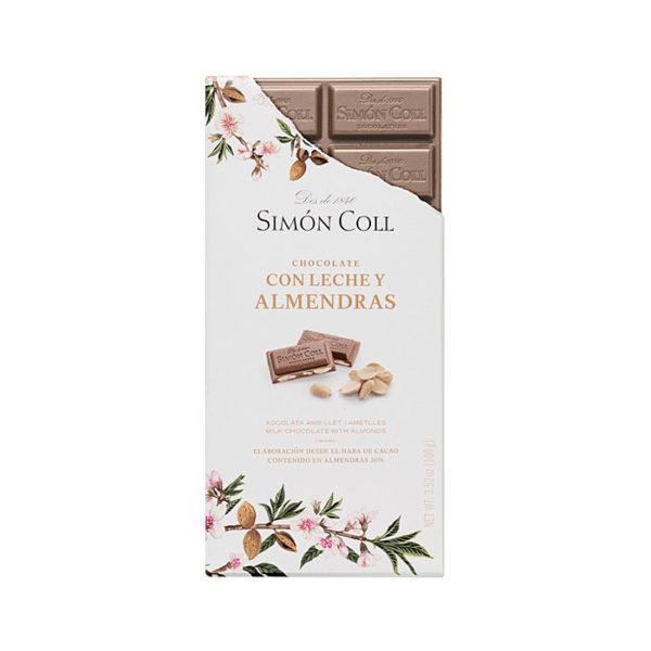 Chocolate con leche y almendras Simón Coll