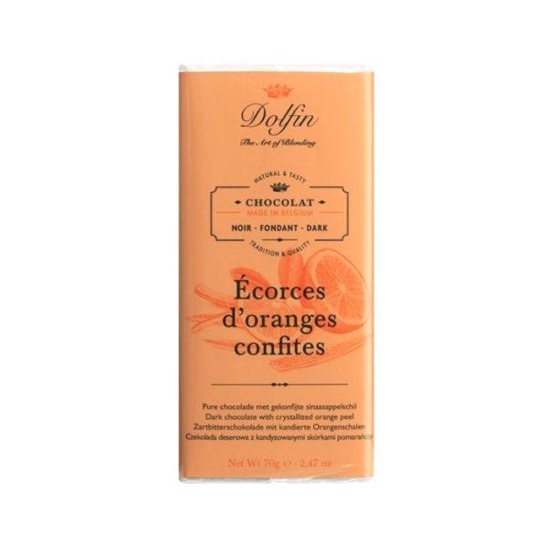 Chocolate negro con naranja confitada Dolfin