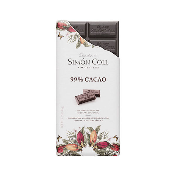 Chocolate 99% cacao Simón Coll