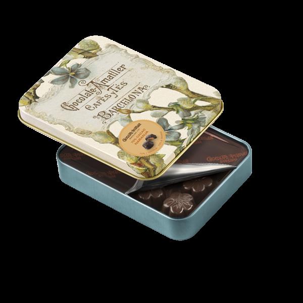 Flores de chocolate 70% cacao con naranja de Chocolate Amatller, Gorfolí tienda online de productos gourmet