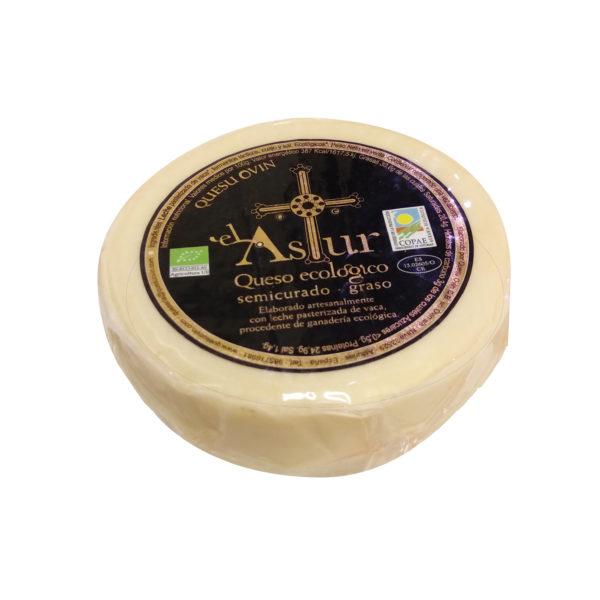 Queso Ecológico semicurado Astur de Quesu Ovín - Quesos Asturianos, Gorfolí Gourmet tienda online de productos de Asturias