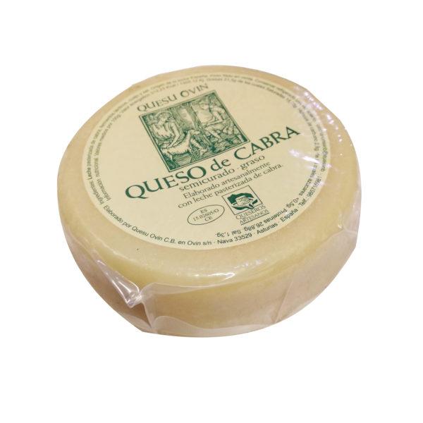 Queso de Cabra semicurado de Quesu Ovín - Quesos Asturianos, Gorfolí Gourmet tienda online de productos de Asturias