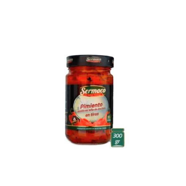 Pimientos asados en leña de encina Sermaco- Gorfolí tienda online de productos gourmet