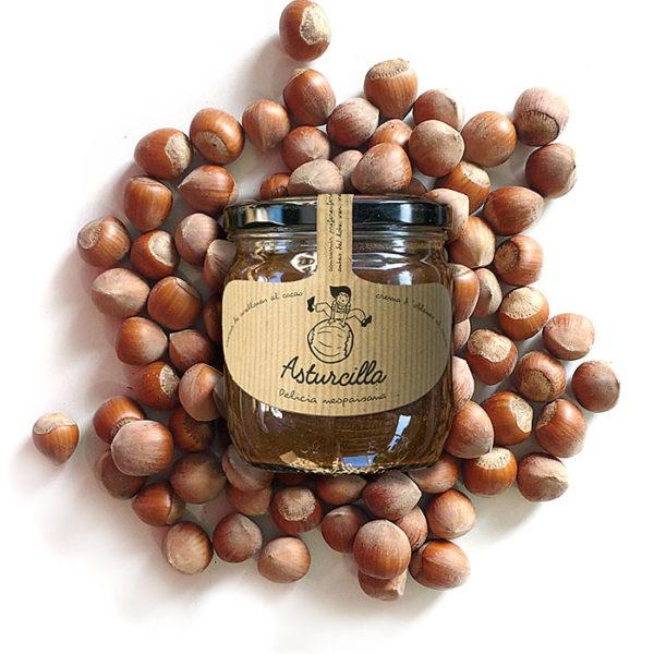 Comprar Nocilla Nutela ASTURCILLA, la crema de avellanas y cacao de Asturias en Gorfoli Gourmet, tienda online de productos asturianos