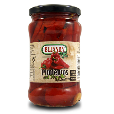 Pimientos del Piquillo con ajillo Bujanda - gorfoli.com