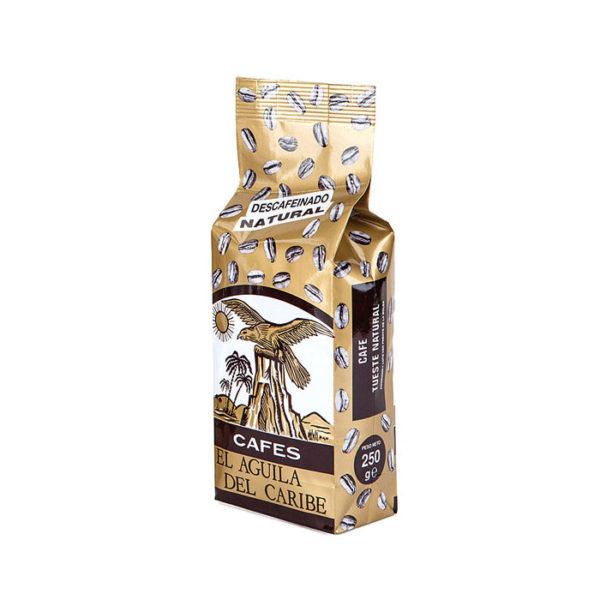 Café natural 100% descafeinado en grano 250 g El Águila del Caribe