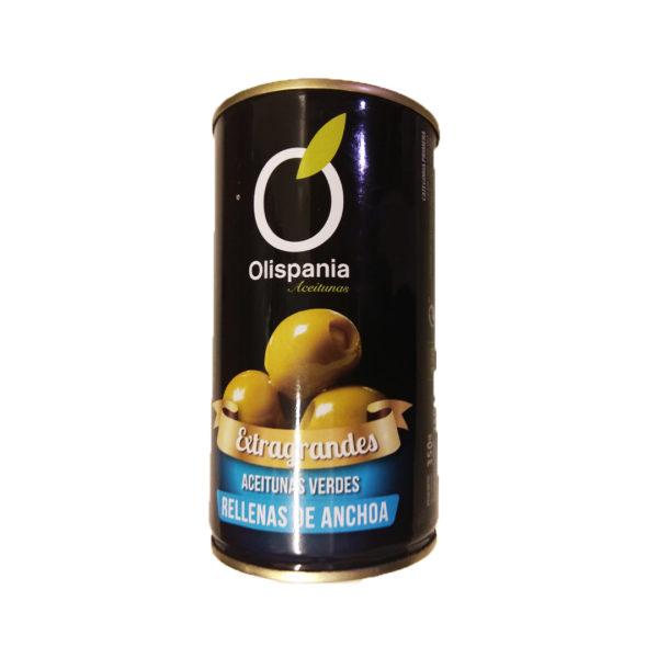 Aceitunas extragrandes rellenas de anchoa Olispania